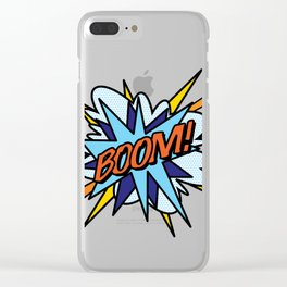 Comic Book Pop Art BOOM Clear iPhone Case