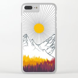 Autumn in the Forest Clear iPhone Case