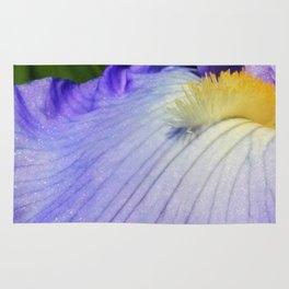 Blue Violet Iris Petal Close up Rug