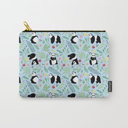 Panda pattern blue Carry-All Pouch