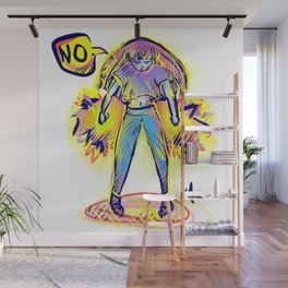Angry NO ! Wall Mural