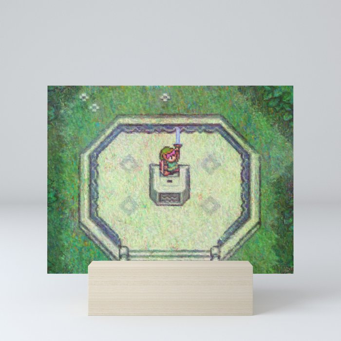 The Legend of Zelda A Link to the Past Master Sword Impressionist Painting Mini Art Print