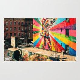 Street Art Mural, Times Square Kiss Recreation Rug