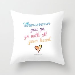 Confucius Say Throw Pillow