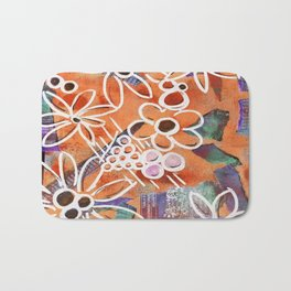 Flowers in Your Journal Bath Mat