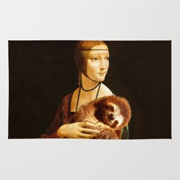 Lady With A Sloth Rug