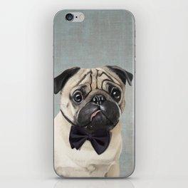 Mr Pug iPhone Skin
