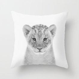 Baby Lion Throw Pillow