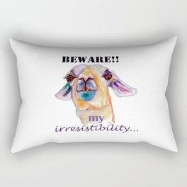 Beware! My irresistibility.. Lama Rectangular Pillow