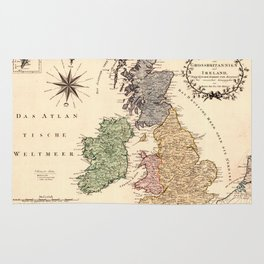 Map Of Great Britain 1795 Rug