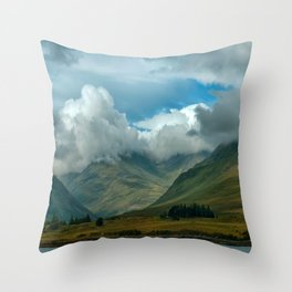 Cloudy afternoon in Connamara Throw Pillow