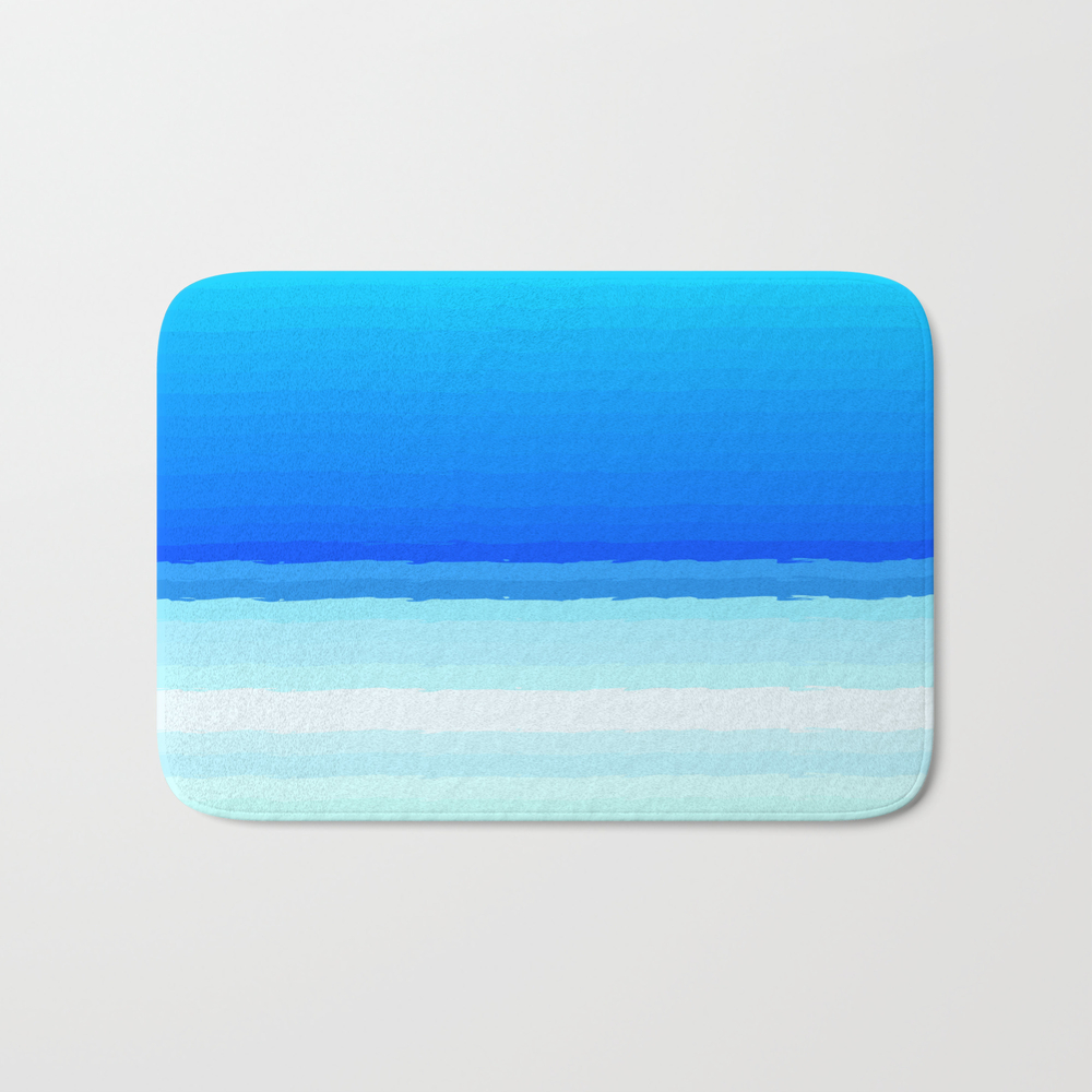 Blue Lines Pattern Shaded Bath Mat by Mallsd BMT8787580
