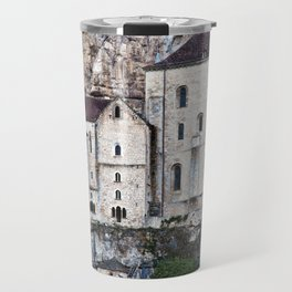 Medieval Facade of the French Castle in Rocamadour Travel Mug