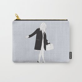 Winter Fashion Girl in the Snow Carry-All Pouch