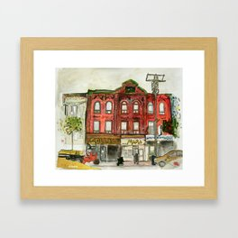 College Street Framed Art Print