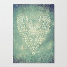 Battered Vintage Heart Canvas Print
