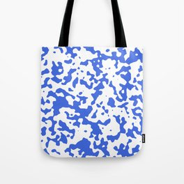 Spots - White and Royal Blue Tote Bag