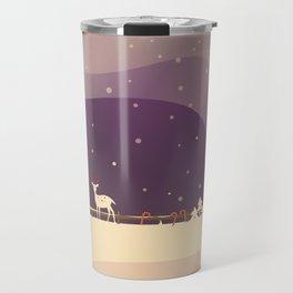 Peaceful Snowy Christmas (Plum Purple) Travel Mug