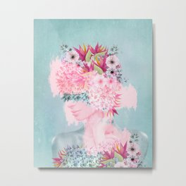 Woman in flowers II Metal Print