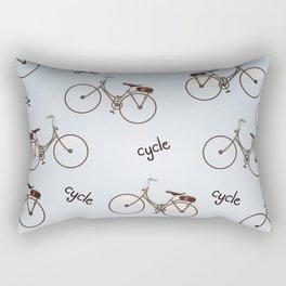 cycle biking poster pattern. Rectangular Pillow
