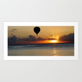 Balloon Sunset #1 Art Print
