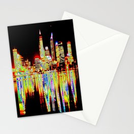 Abstract Skyline Stationery Cards