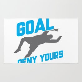 My Goal Is To Deny Yours Soccer Goalie/Goalkeeper Rug