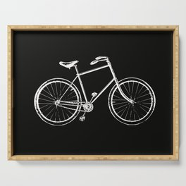 Bike on black Serving Tray