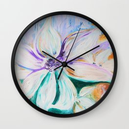flowers are the stars Wall Clock