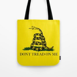 """Gadsden """"Don't Tread On Me"""" Flag, High Quality image Tote Bag"""