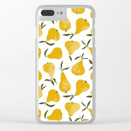 Yellow pear Clear iPhone Case