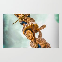 Maori Totem Pole Rug