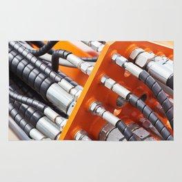Hoses of hydraulic machine Rug