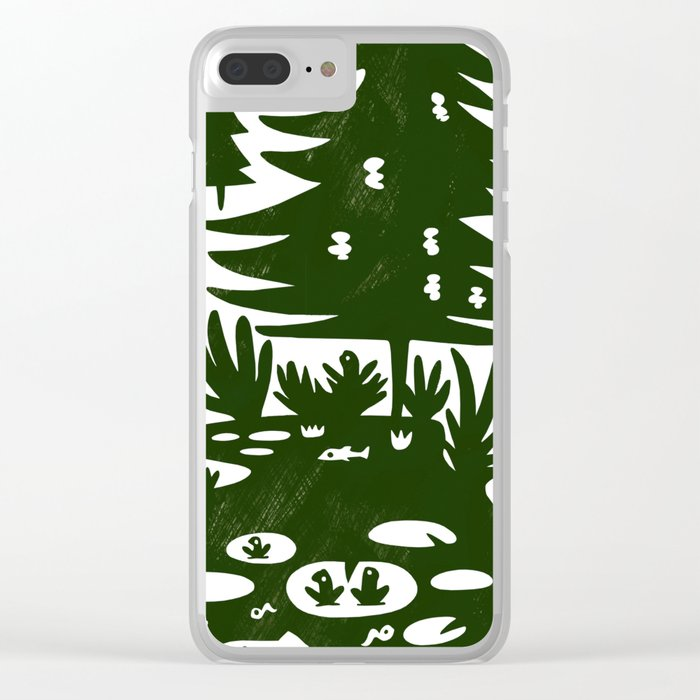 Erik of the Woods Clear iPhone Case