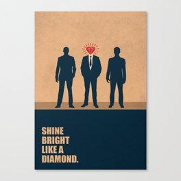 Lab No. 4 - Shine Bright Like A Diamond Corporate Startup Quotes Canvas Print