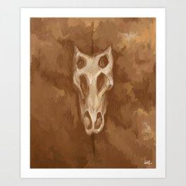Stegosaurus Skull Art Print
