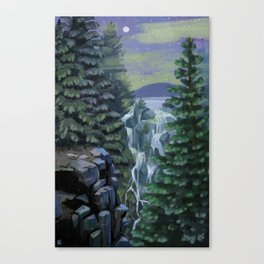 Mount Rainier National Park (Night) Canvas Print