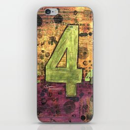 Journey by Number: 4 Repeated iPhone Skin