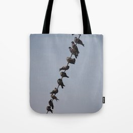 Like a bird on a wire Tote Bag