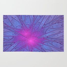 Pink Purple Abstract Flowers Rug