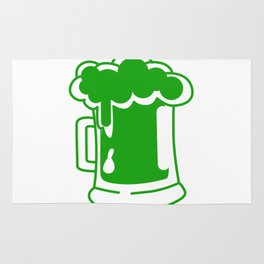 Drink Up Leprechauns Green Beer Drinking St Patricks Rug