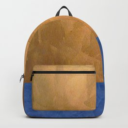 Copper Metallic With Tuscan Blue Stripe Trim Backpack