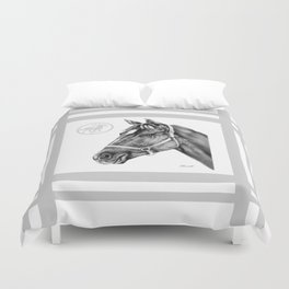 Affirmed (US) Thoroughbred Stallion Duvet Cover
