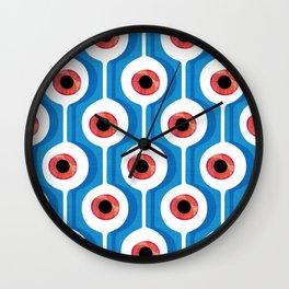 Eye Pod Blue Wall Clock