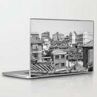 seoul Laptop & iPad Skins featuring Seoul Rooftops by Jennifer Stinson