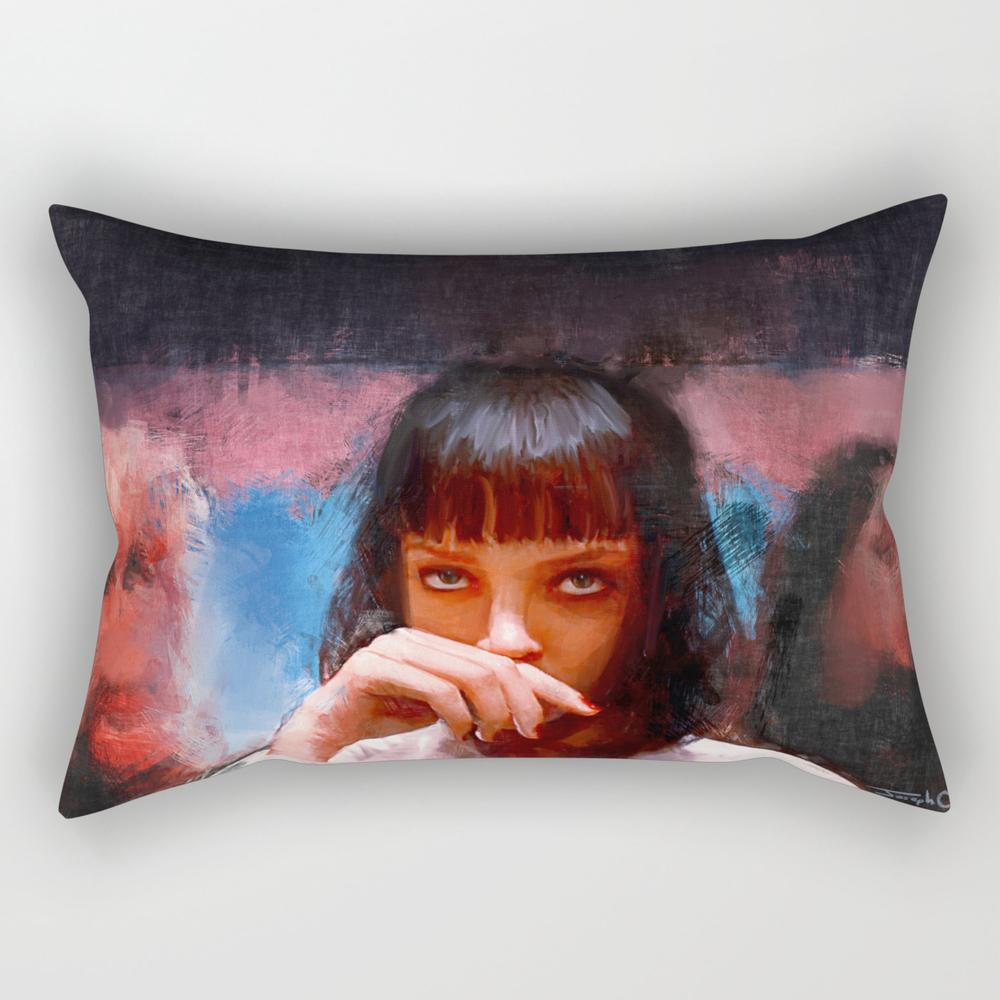 Mia Wallace (pulp Fiction) Rectangular Pillow RPW6493933