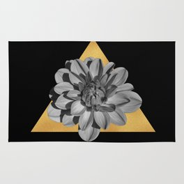 Triangle and flower Rug