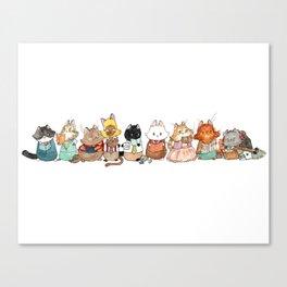 Reading Kitties Canvas Print