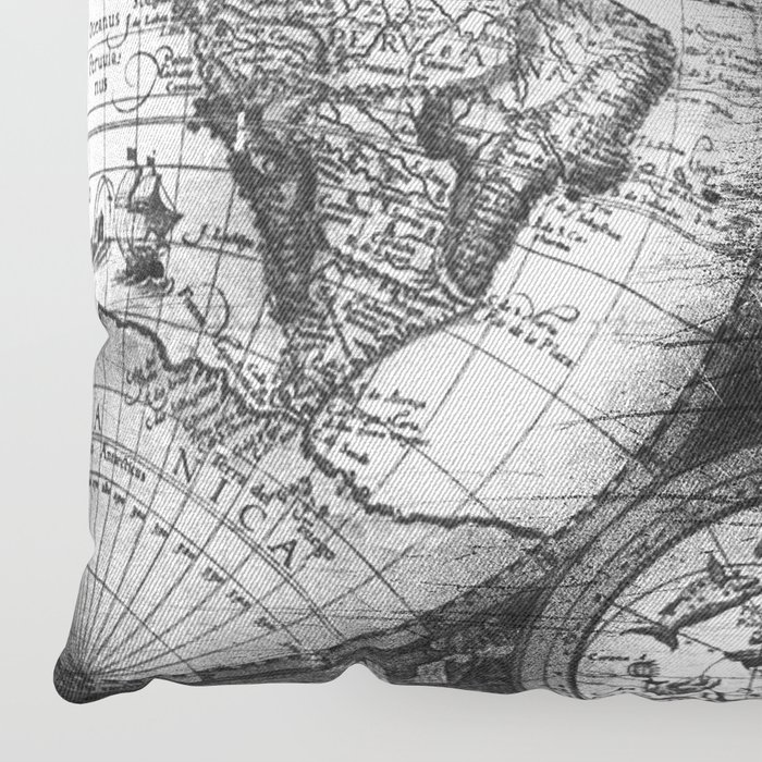 World map antique vintage black and white floor pillow by world map antique vintage black and white floor pillow by naturemagick society6 gumiabroncs Images