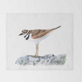 Killdeer Art 1 by Teresa Thompson Throw Blanket